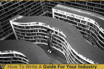 National library photo in black and white. How to write a guide for your industry.