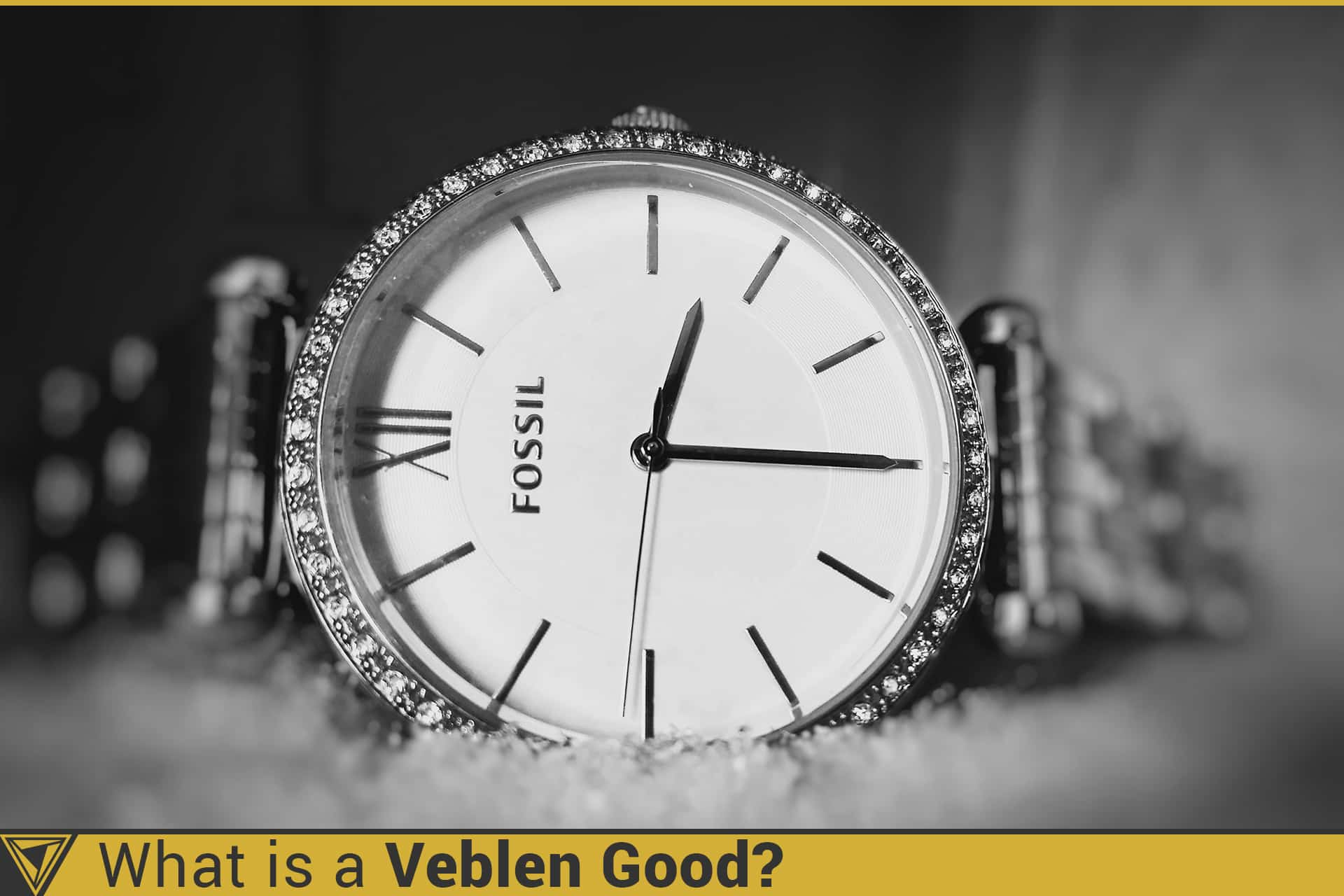Diamond encrusted watch by Fossil. What is a Veblen good?