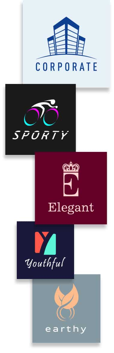 Best corporate logo color combination of 2020. Sport logo colors, elegant logo colors, youthful logo colors, and earthy logo colors.