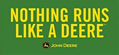 Nothing runs like a Deere. John Deere.