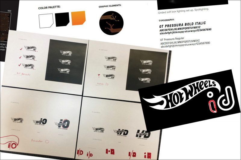 Process of designing Hot Wheels id branding