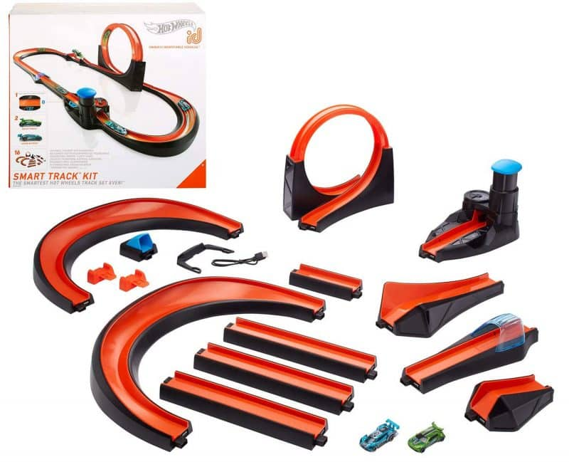 Hot Wheels id Smart track packaging and components