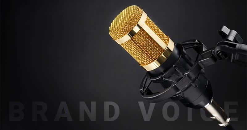 Golden Microphone. Brand Voice.