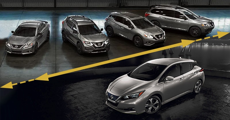 Nissan product line with a line extension with the Nissan Leaf
