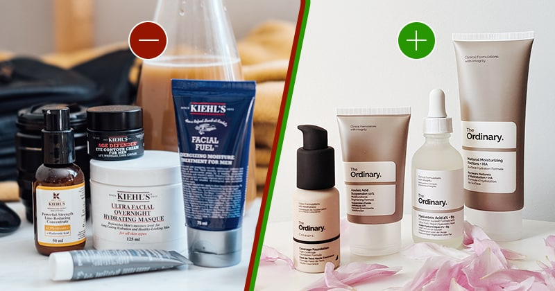 Kiehl's product line which seems inconsistent. The Ordinary product line which is very consistent.
