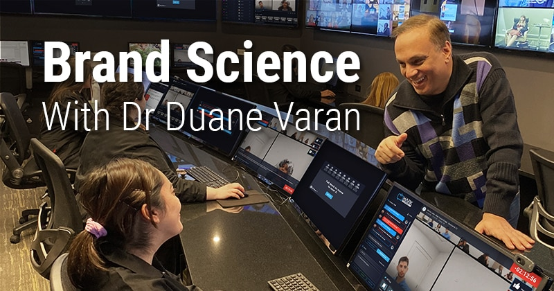 Brand Science with Dr. Duane Varan. Dr. Varan in the control room of a a MediaScience laboratory.