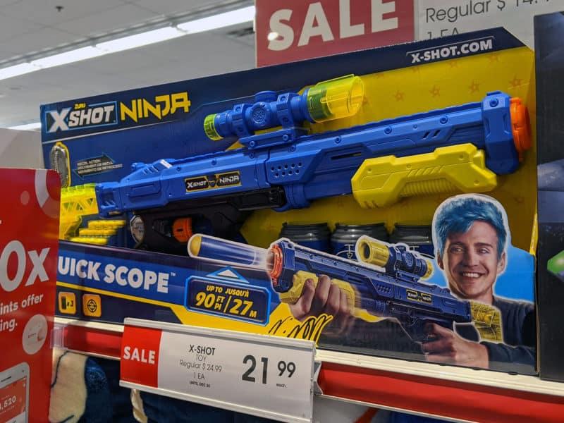 Ninja soft bullet gun in Shoppers Drug Mart