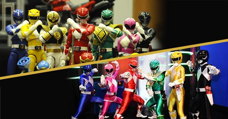 Power Rangers toys vs Power Rangers characters.